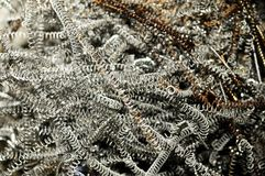 Metal spiral shavings Royalty Free Stock Photo