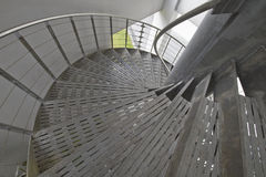 Metal Spiral Staircase Stock Photo