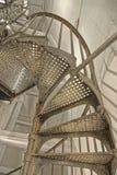 Metal spiral staircase Stock Photos
