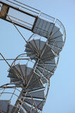Metal spiral stairs Stock Photo