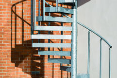 Metal spiral stairs Royalty Free Stock Images