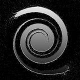 Metal splash spiral. Metal spiral splashed all over the universe Royalty Free Stock Photography