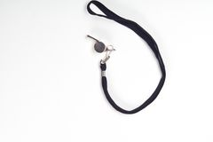 Metal sport whistle Royalty Free Stock Photography