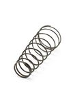 Metal spring coil. Close up of metal spring isolated on white background Stock Photography
