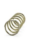 Metal spring coil. Isolated on white background Royalty Free Stock Images