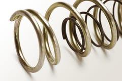 Metal spring coils stock image