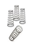 Metal spring coils. On white background Royalty Free Stock Image