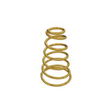 Metal spring isolated on white, 3D rendering Royalty Free Stock Images