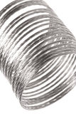 Metal Spring Macro Isolated. Isolated macro image of a metal spring Stock Photography