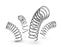 Metal spring on white background Stock Image