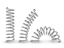 Metal spring on white background Stock Photos