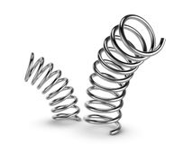 Metal spring on white background Royalty Free Stock Photos