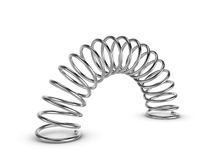 Metal spring on white background Stock Photo