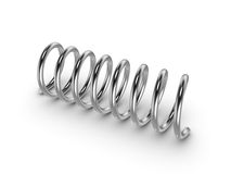 Metal spring on white background Royalty Free Stock Image