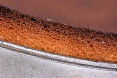 Metal springform with fresh cake Royalty Free Stock Image