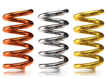 Metal springs Stock Photo