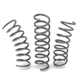 Metal springs 3d. Three silver metal springs, 3d image Stock Photo