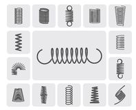 Metal Springs Set Royalty Free Stock Photography