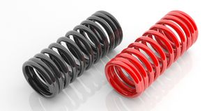 Metal springs on white background. 3d illustration Royalty Free Stock Photography