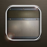 Metal square border icon Stock Photography