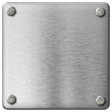 Metal square plate with boltheads isolated Stock Images