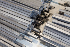 Metal square tube Stock Photography