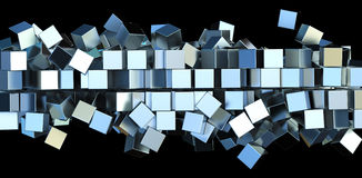 Metal squares Stock Photos