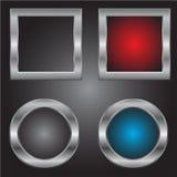 Metal squares and circles Royalty Free Stock Image