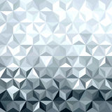 Metal srebnej 3d geometrii niski poli- bezszwowy wzór Obrazy Royalty Free