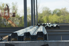 Metal Stacked on Contruction Site Stock Photography