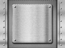 Metal stainless steel plate background Royalty Free Stock Images