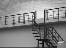 METAL STAIR WITH SKY BACKGROUND Royalty Free Stock Photos