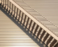 Metal Staircase. Metal Escape Staircase on an industrial building stock photo