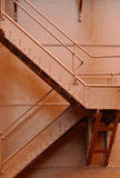 Metal staircase Stock Images