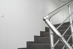 Metal staircase bars Royalty Free Stock Images