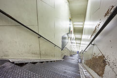 An metal staircase in a tunnel Stock Images