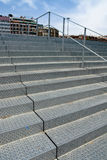 Metal stairs. Perspective view of an urban metal staircase Royalty Free Stock Photography