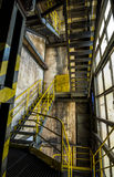 Metal stairs in factory Royalty Free Stock Image