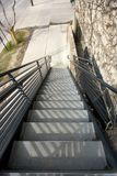 Metal Stairs Going Down Royalty Free Stock Photos