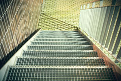 Metal stairs with railings Stock Image
