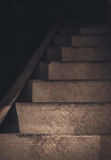 Metal stairway. Ply staircase to the basement Royalty Free Stock Image