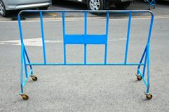 Metal Stand Barrier Blue Stock Image