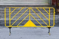 Metal Stand Barrier Yellow Stock Images