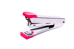 Metal stapler with pink accents Royalty Free Stock Images
