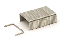 Metal staples Stock Images