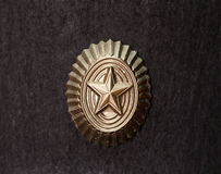 Metal star. Metal badge in the form of stars royalty free stock photography