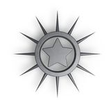 Metal star Stock Photography