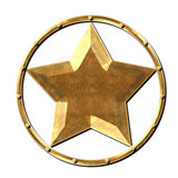 Metal Star Logo Steel Gold Royalty Free Stock Images