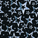 Metal Star Seamless Pattern Stock Photography