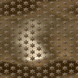 Metal stars. Golden, copper brushed starfield, seamlessly tillable Royalty Free Stock Photos